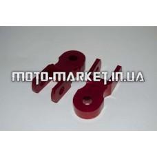 Удлинители амортизатора (пара)   5см, Ø10мм   (красные)   PLT