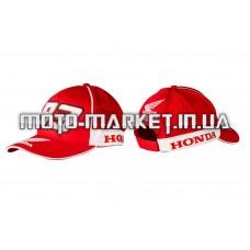Бейсболка   HONDA AND MARC MARQUEZ   (красная, 100% хлопок)