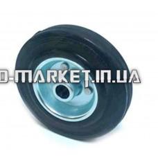 Колесо для тачек и платформ (литая резина)   (125mm, ступица 40mm, под ось 16mm)   ELIT