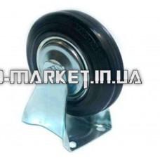 Колесо для тачек и платформ (литая резина) (в сборе с прямым креплением)   (125mm)   ELIT