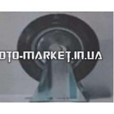Колесо для тачек и платформ (литая резина) (в сборе с креплением, прямое, без поворота)   (200/50-100mm)   MRHD