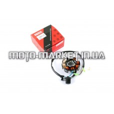 Статор генератора   4T GY6 50   (6+2 катушек, 4 контакта)   STAR
