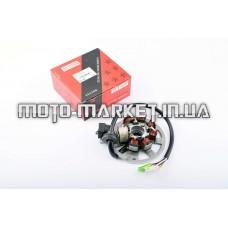 Статор генератора   Yamaha JOG 50   (6+1 катушек, 6 проводов)   STAR