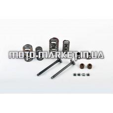 Клапаны (пара, в сборе)   4T GY6 50   (L-64.3mm)