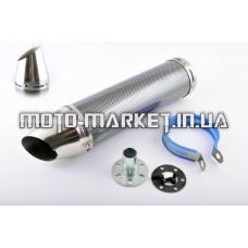 Глушитель (тюнинг)   300*90mm, креп. Ø48mm   (нержавейка, карбон mod:1, прямоток, тип:4)