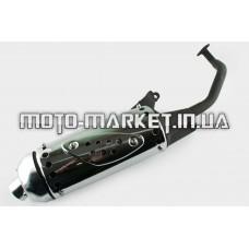 Глушитель   4T GY6 125/150   (+колено под 12)   (накладка хром)