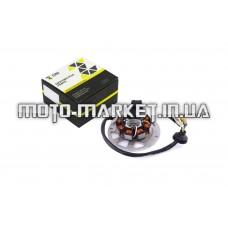 Статор генератора   Yamaha JOG 50   (6+1 катушек, 6 проводов)   ZUNA