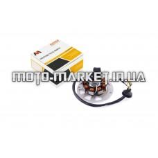 Статор генератора   Yamaha JOG 50   (6+1 катушек, 6 проводов)   MANLE