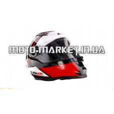 Шлем-интеграл   (mod:358) (size:XXL, красно-черно белый)   LS-2