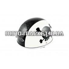 Шлем-каска   (mod:Skull) (size:L, бело-черный)   TVD