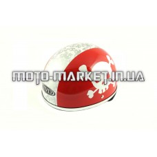 Шлем-каска   (mod:Skull) (size:L, красно-белый)   TVD