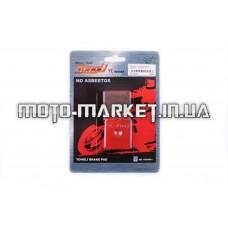 Колодки тормозные (диск)   Peugeot, Gelera, CPI   (красные)   YONGLI
