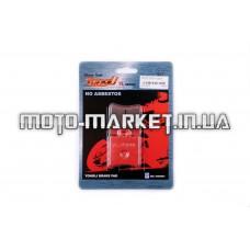 Колодки тормозные (диск)   Yamaha JOG SA04   (красные)   YONGLI