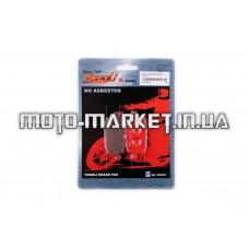 Колодки тормозные (диск)   Yamaha JOG 90, BWS 100   (красные)   YONGLI