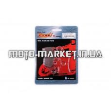 Колодки тормозные (диск)   Yamaha JOG SA12   (красные)   YONGLI