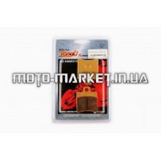 Колодки тормозные (диск)   Yamaha JOG SA04   (желтые)   YONGLI PRO