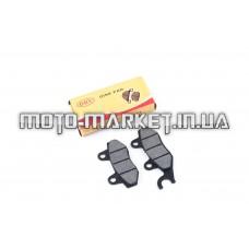 Колодки тормозные (диск)   4T GY6 50-150   (RACE/STORM, ухо в лево, черные)   DRY