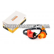 Катушка зажигания (тюнинг)   4T GY6 50-150, Honda DIO   (оранжевая, +насвечник)   MANLE