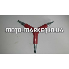 Ключ велосипедный 3 в 1 (отвертка)   KL