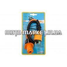 Катушка зажигания (тюнинг)   4T GY6 50-150, Honda DIO   (оранжевая, +насвечник)   CHENHAO