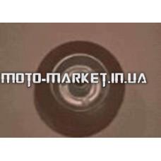 Колесо для тачек и платформ (литая резина)   (100/30- 50mm, игольчатый подшипник)   MRHD