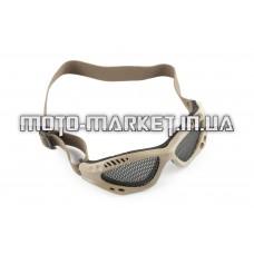 Очки мото   KOESTLER   (на резинке, серые, c перфорационным стеклом)