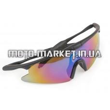 Очки спортивные   KML   (черные со стеклами хамелеон) (mod:WL-0004)