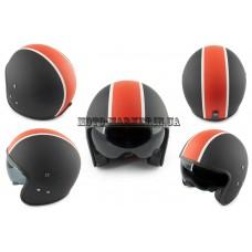 Шлем открытый   (mod:062) (size:M, черно-красный матовый, солнцезащитные очки)   LS2