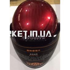 Шлем открытый   (mod:210) (size:L, красный, +тонированный визор)   TANKE