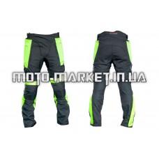 Мотоштаны   (текстиль) (черно-салатовые size L)   (HP07)