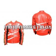 Мотокуртка   DAQINESE   (кожзам) (size:XXXL, красная)