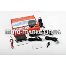 Парктроник   mod:LH-813B   (датчики серебристые 4шт, LCD, штурман, монтажный комплект)   KAMEILONG
