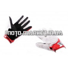 Перчатки   ALPINESTARS   (mod:MUSTANG, size:L, белые, кожа)