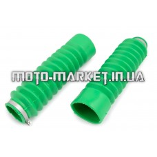 Гофры передней вилки (пара)   Zongshen, Lifan 125/150   (зеленые)   EVO