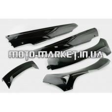 Пластик   Zongshen F1, F50   нижний пара (лыжи)   (черный)   KOMATCU