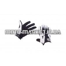 Перчатки   DIRTPAW   (mod:034, size:M, черно-белые)   FOX