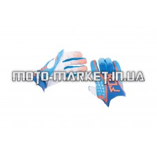 Перчатки   DIRTPAW   (mod:035, size:L, синие)   FOX