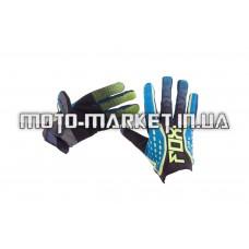 Перчатки   DIRTPAW   (mod:035, size:L, черно-синие)   FOX