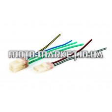 Разъем коммутатора   4T GY6 50-150   (4+2 контакта, мама, +провода)   ZUNA