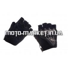 Велоперчатки (черно-грифель, size L)   AXE