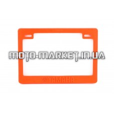 Рамка под номер на скутер   (оранжевая)   YMH