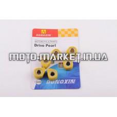 Ролики вариатора (тюнинг)   4T GY6 125/150   18*14   11,5г   (желтые)   DONGXIN