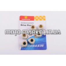 Ролики вариатора (тюнинг)   4T GY6 125/150   18*14   10,5г   (белые)   DONGXIN