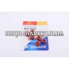 Ролики вариатора (тюнинг)   Yamaha   15*12   5,5г   (красные)   DONGXIN