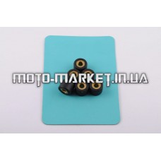 Ролики вариатора   Yamaha   15*12   9,0г   (черные)   RAINBOW