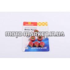 Ролики вариатора   Suzuki   17*12   7,5г   (красные)   DONGXIN