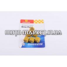 Ролики вариатора   4T GY6 125/150   18*14   11,5г   (желтые)   DONGXIN