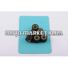 Ролики вариатора   4T GY6 125/150   18*14   11,5г   (черные)   RAINBOW