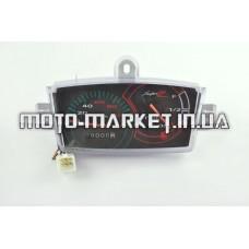 Панель приборов (в сборе)   Yamaha JOG Z NEXT ZONE   (120км/ч, черная)   (mod:MY-123)