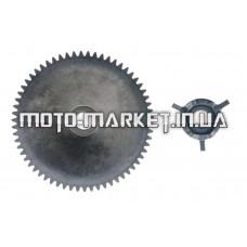 Щека вариатора неподвижная   4T GY6 50   (+ведомая часть храповика, крыльчатка)   STEEL MARK
